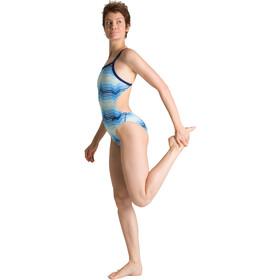 arena Multicolor Stripes Challenge Back Costume Da Bagno Intero Donna, navy/multi